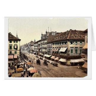 Kaiser Strasse, Karlsruhe, Baden, obra clásica de  Felicitación