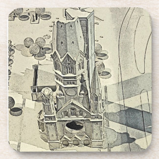 Kaiser Wilhelm Church, Berlin, Model Drink Coaster