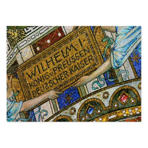 Kaiser Wilhelm Church, Berlin, Plague, Mosaic Tile Large Business Cards (Pack Of 100)