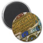 Kaiser Wilhelm Church, Berlin, Plague, Mosaic Tile Magnet