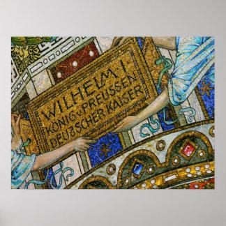 Kaiser Wilhelm Church, Berlin, Plague, Mosaic Tile Posters