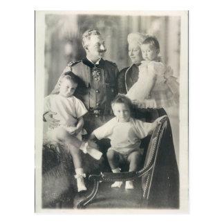 Kaiser Wilhelm II | spouse | grandchildren #014D Postcard