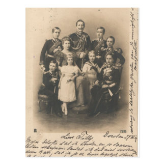KAISER WILHELM II with his family #017D Postcard
