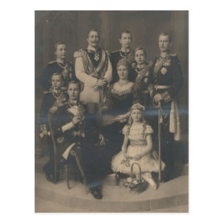 KAISER WILHELM II with his family #018D Postcard