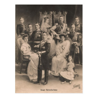 KAISER WILHELM II with his family #020D Postcard