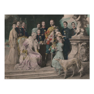 KAISER WILHELM II with his family #021D Postcard
