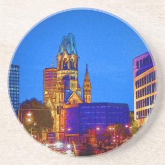Kaiser Wilhelm Memorial Church, Berlin, Illu Drink Coaster