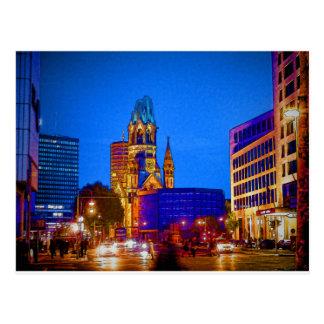 Kaiser Wilhelm Memorial Church, Berlin, Illu Postcard