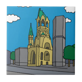 Kaiser Wilhelm Memorial Church in Berlin Tile