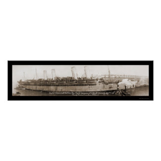 Kaiser Wilhelm Ship Photo 1919 Poster