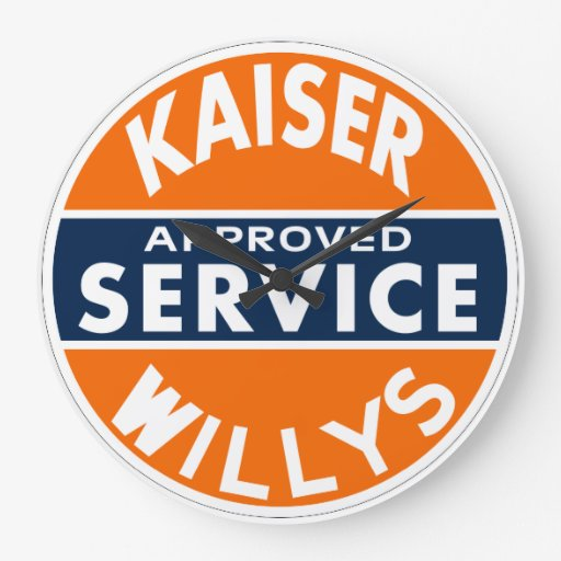 Kaiser Willys Approved Service vintage sign Wallclocks