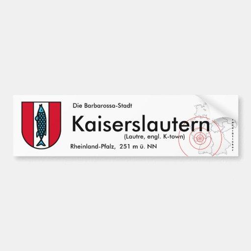 Kaiserslautern 1 car bumper sticker