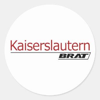 Kaiserslautern Brat -A001 Classic Round Sticker