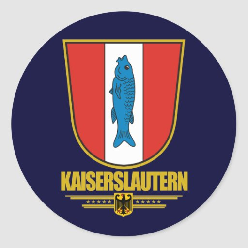 Kaiserslautern classic round sticker zazzle for Mobel in kaiserslautern
