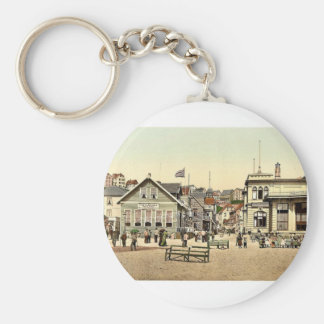 Kaiserstrasse, Helgoland, Germany magnificent Phot Key Chain