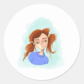 Kaitlin Classic Round Sticker