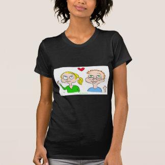 kaitlin del corazón del chica del muchacho tee shirts