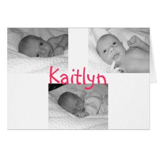 kaitlyn birth announce card