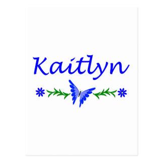 Kaitlyn (Blue Butterfly) Postcard