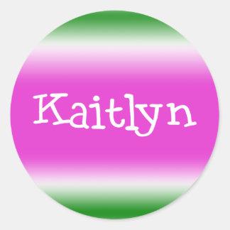 Kaitlyn Classic Round Sticker