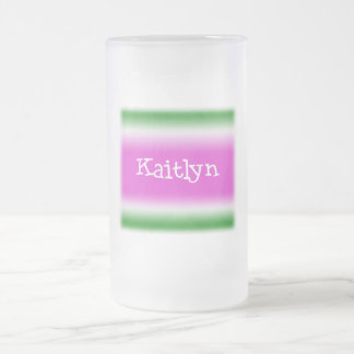 Kaitlyn Frosted Glass Beer Mug
