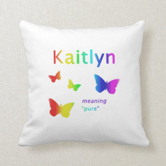 Kaitlyn Gifts Kaitly Name Gifts Kaitlyn Throw Pillow