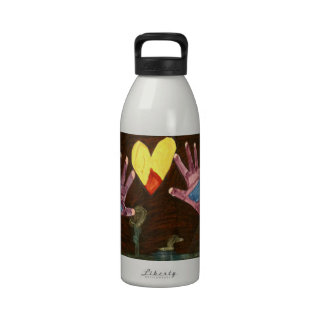 Kaitlyn HANDS Art1569a1a The MUSEUM Zazzle Gifts Water Bottle