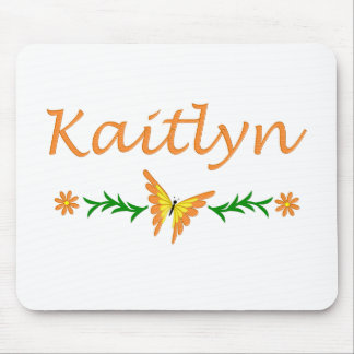 Kaitlyn (Orange Butterfly) Mouse Pad