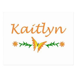 Kaitlyn (Orange Butterfly) Postcard