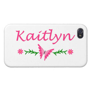 Kaitlyn (Pink Butterfly) iPhone 4/4S Case