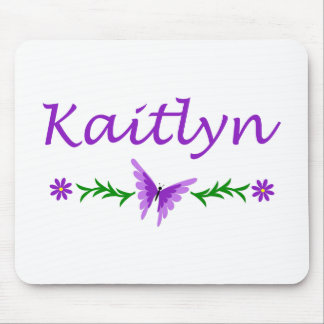 Kaitlyn (Purple Butterfly) Mouse Pad
