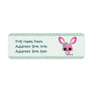 """Kaiya el conejo """"bendición """" etiqueta de remite"""