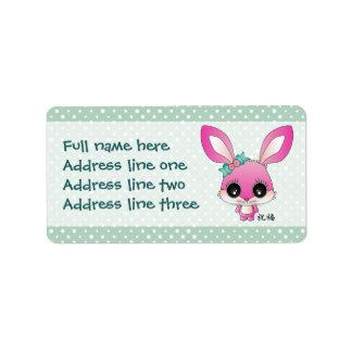 """Kaiya el conejo """"bendición """" etiquetas de dirección"""