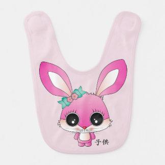 """Kaiya el conejo """"niño"""" en japonés baberos"""