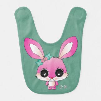"""Kaiya el conejo """"niño"""" en japonés baberos de bebé"""