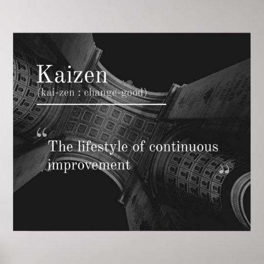 Kaizen Continuous Improvement Poster Zazzle Com