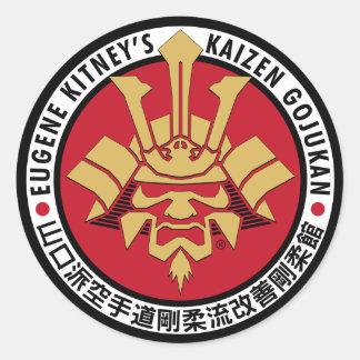 Kaizen Gojukan - logotipo grande Pegatinas