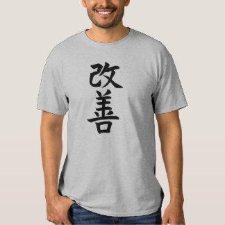 kaizen, improvement, Kanji, Japanese and calligrap T Shirts