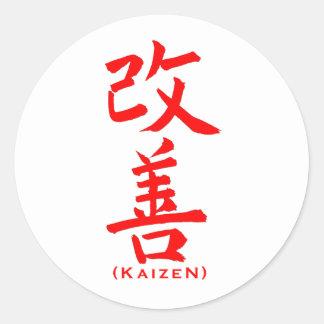 Kaizen Template Round Stickers