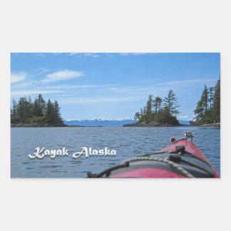 Kajak Alaska Pegatina Rectangular