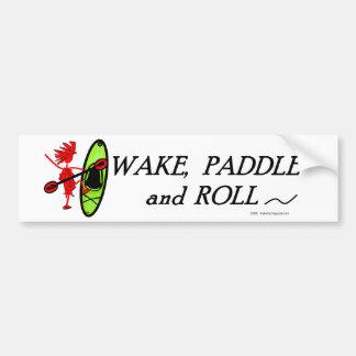 Kajak de Whitewater - paletas bien con otras 2 Etiqueta De Parachoque
