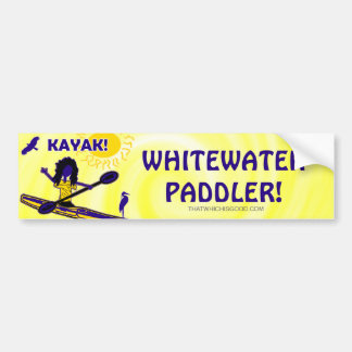¡Kajak de Whitewater! Ropa y tal Pegatina Para Auto