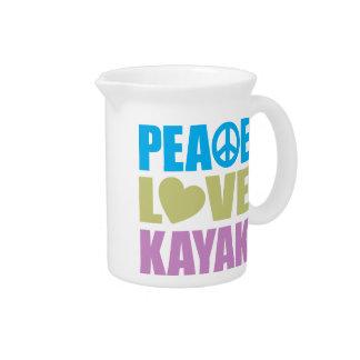 Kajak del amor de la paz jarron