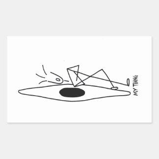 kajak del eslalom, eslalom del whitewater pegatina rectangular