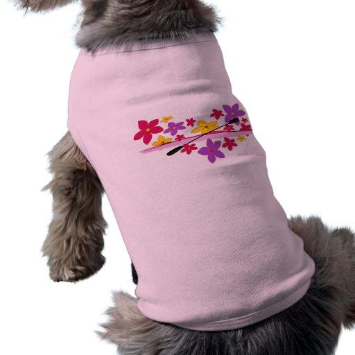 Kajak del flower power camisas de mascota