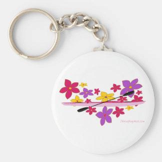 Kajak del flower power llaveros personalizados