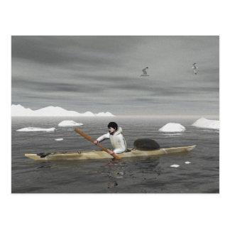 Kajak del Inuit Tarjetas Postales