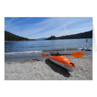 Kajak del lago Tahoe Tarjeta Pequeña