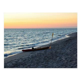 Kajak del mar en la postal de la isla de Captiva d