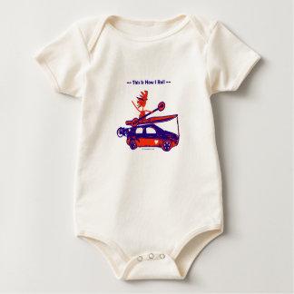 ¡Kajak en el coche - éste es cómo ruedo! Body Para Bebé